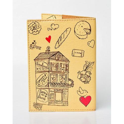 Обложка для паспорта Lovely. Бежевый  в  Интернет-магазин Zelenaya Vorona™ 1