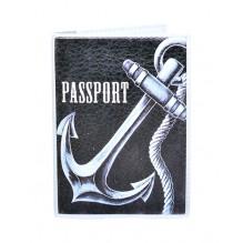 Обложка для паспорта с якорем