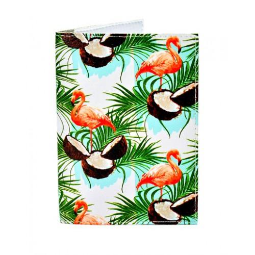 Покупка  Обложка для паспорта Фламинго в  Интернет-магазин Zelenaya Vorona™