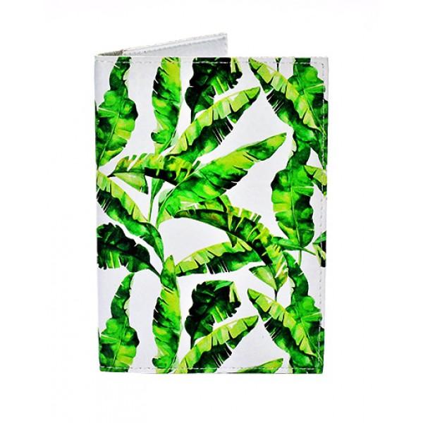 Обложка для паспорта Банановые листья