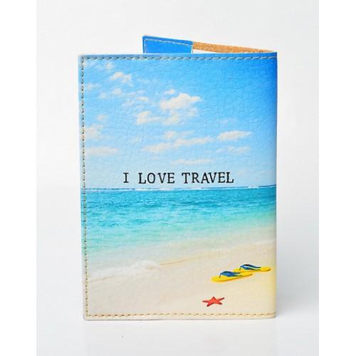 Обложка для паспорта I love travel  в  Интернет-магазин Zelenaya Vorona™ 1
