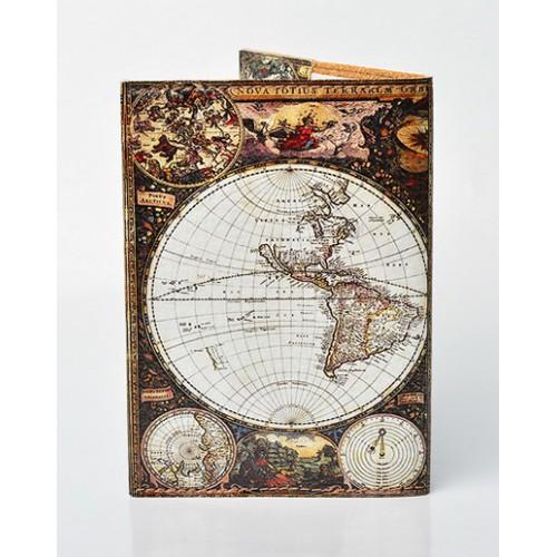 Обложка для паспорта Материки  в  Интернет-магазин Zelenaya Vorona™ 1