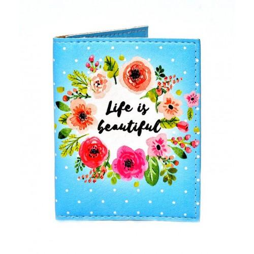 Покупка  Обложка на ID паспорт Жизнь прекрасна в  Интернет-магазин Zelenaya Vorona™