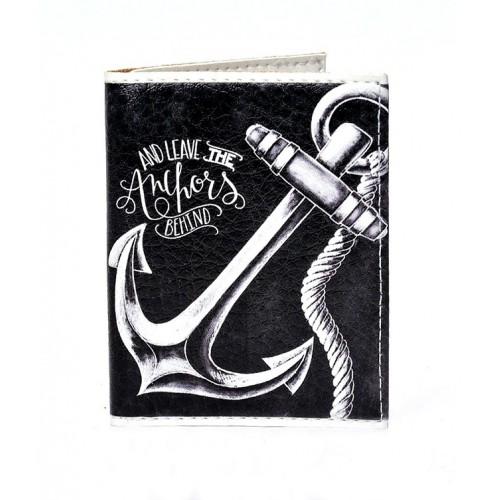 Покупка  Обложка на ID паспорт с якорем в  Интернет-магазин Zelenaya Vorona™