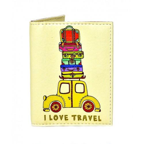 Покупка  Обложка на ID паспорт Веселый багаж в  Интернет-магазин Zelenaya Vorona™