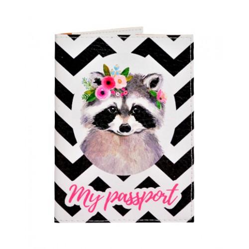 Покупка  Обложка для паспорта Енот в  Интернет-магазин Zelenaya Vorona™