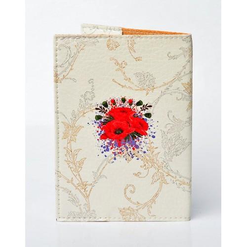 Обложка для паспорта Маки  в  Интернет-магазин Zelenaya Vorona™ 1