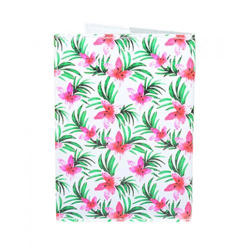 Обложка для паспорта Тропические цветы  в  Интернет-магазин Zelenaya Vorona™ 1