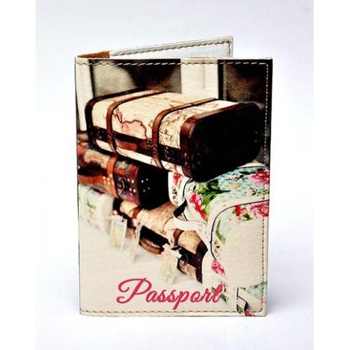 Покупка  Обложка для паспорта Чемоданы в  Интернет-магазин Zelenaya Vorona™