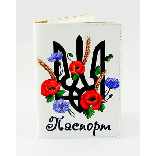 Покупка  Обложка для паспорта Герб и маки в  Интернет-магазин Zelenaya Vorona™