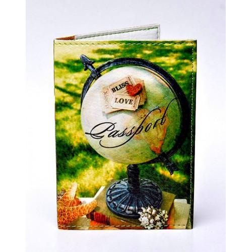 Покупка  Обложка для паспорта Глобус в  Интернет-магазин Zelenaya Vorona™