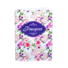 Обложка для паспорта с цветами Винтаж