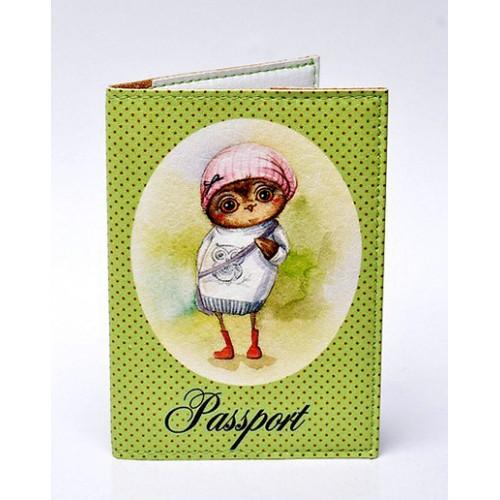 Покупка  Обложка для паспорта Совушки в  Интернет-магазин Zelenaya Vorona™