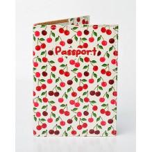 Обложка для паспорта Вишенки