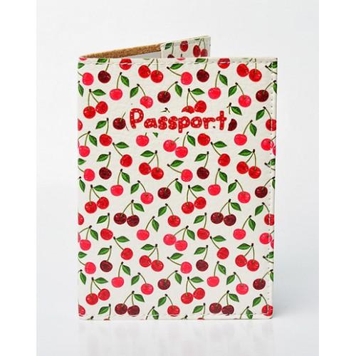 Покупка  Обложка для паспорта Вишенки в  Интернет-магазин Zelenaya Vorona™