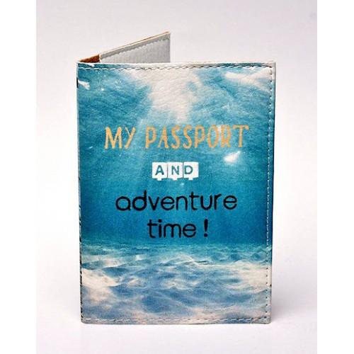 Покупка  Обложка для паспорта Время приключений в  Интернет-магазин Zelenaya Vorona™
