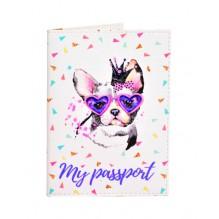 Обложка для паспорта Живи ярко