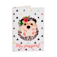 Обложка для паспорта Ежик