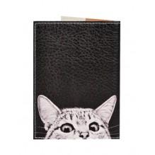 Обложка для паспорта Любопытный котик