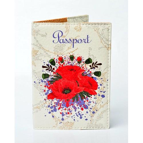 Покупка  Обложка для паспорта Маки в  Интернет-магазин Zelenaya Vorona™