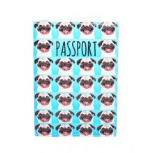 Обложка для паспорта Мопсы