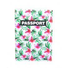 Обложка для паспорта Тропические цветы
