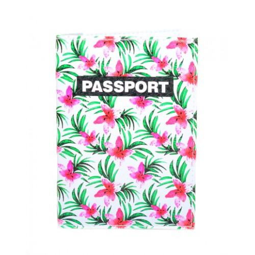 Покупка  Обложка для паспорта Тропические цветы в  Интернет-магазин Zelenaya Vorona™