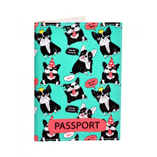 Покупка  Обложка для паспорта Французские бульдоги в  Интернет-магазин Zelenaya Vorona™