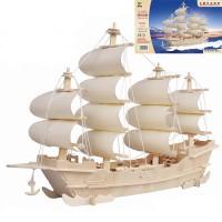3D Деревянный конструктор. Модель Корабль