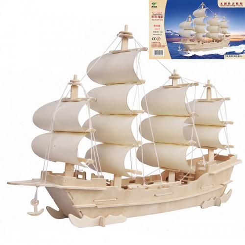 Покупка  3D Деревянный конструктор. Модель Корабль в  Интернет-магазин Zelenaya Vorona™