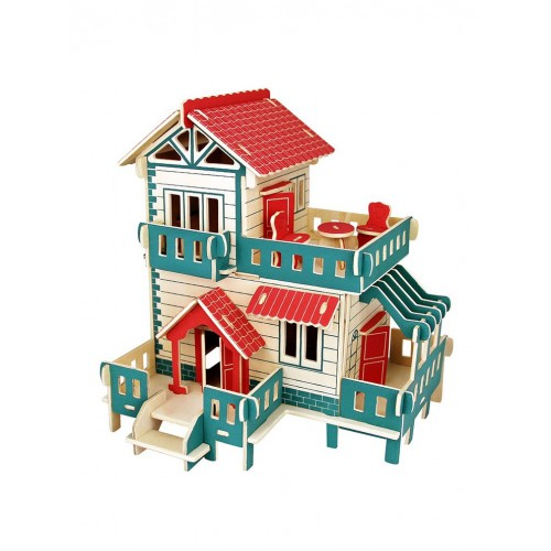 Покупка  3D Деревянный конструктор. Модель Загородный дом в  Интернет-магазин Zelenaya Vorona™