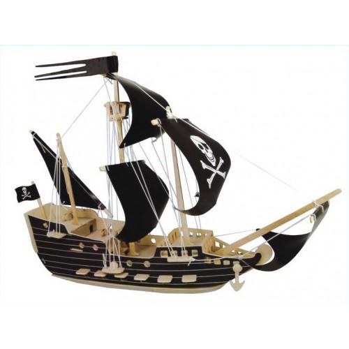 3D Деревянный конструктор. Модель Пиратский корабль  в  Интернет-магазин Zelenaya Vorona™ 1
