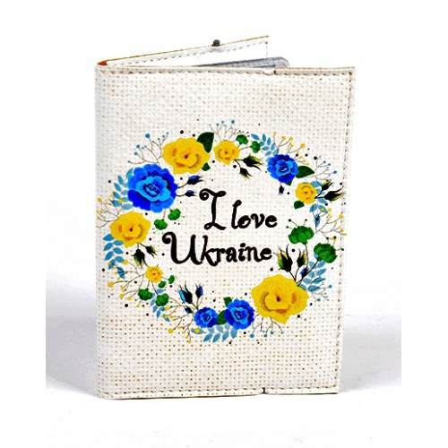 Покупка  Обложка для водительских прав I love Ukraine в  Интернет-магазин Zelenaya Vorona™