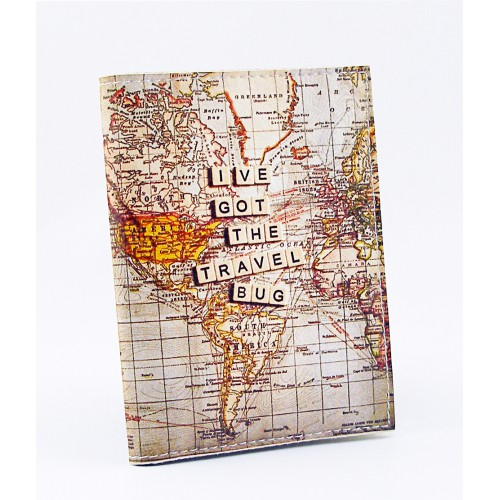 Покупка  Обложка для водительских прав Карта мира в  Интернет-магазин Zelenaya Vorona™