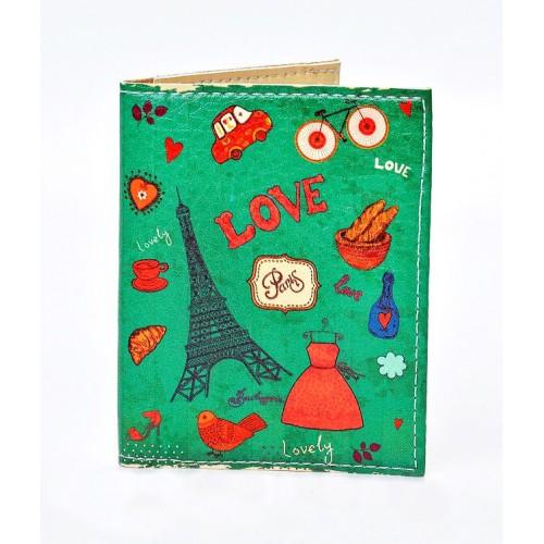 Покупка  Обложка на ID паспорт Lovely. Зеленый в  Интернет-магазин Zelenaya Vorona™