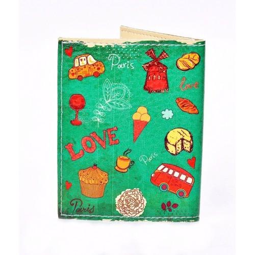 Обложка на ID паспорт Lovely. Зеленый  в  Интернет-магазин Zelenaya Vorona™ 1
