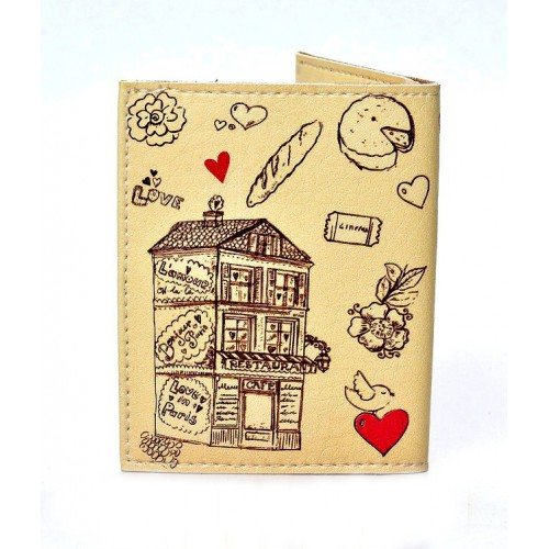 Обложка на ID паспорт Lovely. Бежевый  в  Интернет-магазин Zelenaya Vorona™ 1