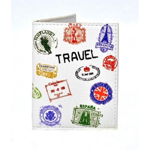 Покупка  Обложка на ID паспорт Travel штампы в  Интернет-магазин Zelenaya Vorona™