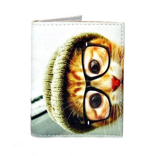 Покупка  Обложка на ID паспорт Кот в очках в  Интернет-магазин Zelenaya Vorona™