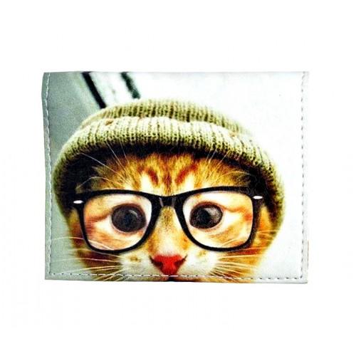 Обложка на ID паспорт Кот в очках  в  Интернет-магазин Zelenaya Vorona™ 1