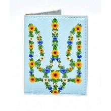 Обложка на ID паспорт Цветочный Герб