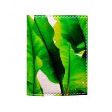 Обложка на ID паспорт Банановые листья