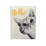 Обложка на ID паспорт Любопытный котик