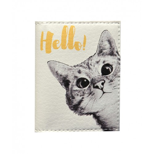 Покупка  Обложка на ID паспорт Любопытный котик в  Интернет-магазин Zelenaya Vorona™