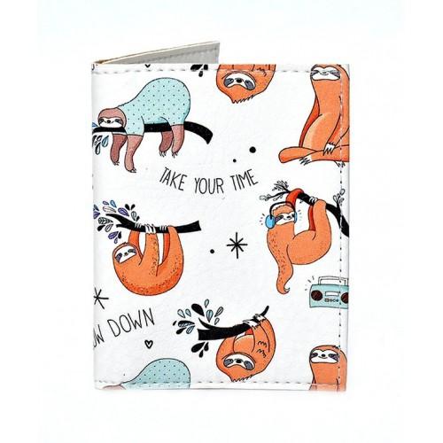 Покупка  Обложка на ID паспорт с ленивцами в  Интернет-магазин Zelenaya Vorona™