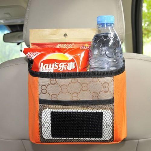 Покупка  Органайзер на спинку сидения в автомобиль. Оранжевый в  Интернет-магазин Zelenaya Vorona™
