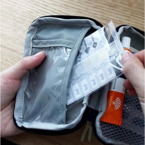 Мини аптечка органайзер для путешествий. Синяя  в  Интернет-магазин Zelenaya Vorona™ 6