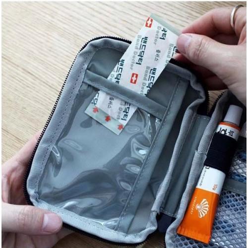 Мини аптечка органайзер для путешествий. Синяя  в  Интернет-магазин Zelenaya Vorona™ 5