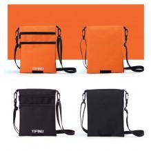 Дорожный кошелек на шею YIPINU. Оранжевый/Черный