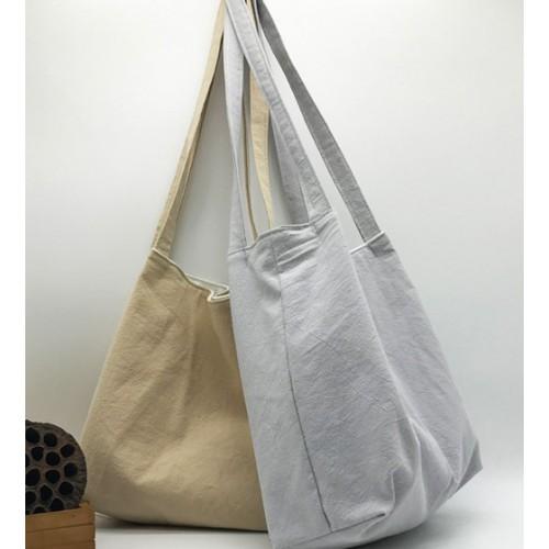 Летняя текстильная сумка. Светло-серая  в  Интернет-магазин Zelenaya Vorona™ 1